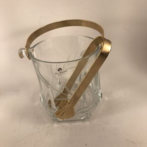 Arte Murano Glass Ice Bucket with Tongs for Sale in Anchorage, AK