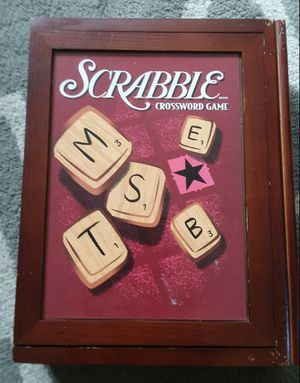 Vintage Scrabble Game in Wooden Case for Sale in Wyandotte, MI