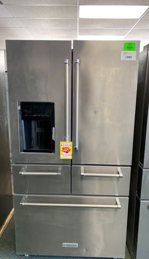 KitchenAid Refrigerator! 5 drawer with platinum interior!! 25 cubic units with Warranty! Brand new 502 for Sale in South Gate, CA