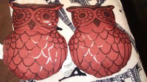 Decorative owl throw pillows for Sale in Marlow Heights, MD