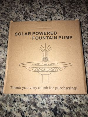 Solar Powered Fountain Pump for Sale in Peoria, AZ