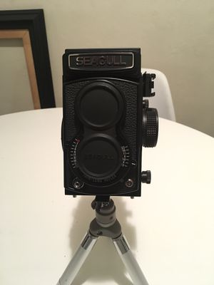 Seagull 4B-1 Twin Lens Reflex TLR Camera W/SA-99 Haiou 75MM F/3.5 LENS OBO for Sale in Tampa, FL