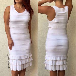 Jonathan Simkhai white tiered bodycon bandage dress size small for Sale in Gardena, CA