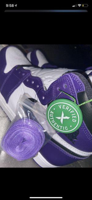 "Jordan 1 ""Court Purple"" SZ:9.5 DEADSTOCK 100% for Sale in San Jose, CA"