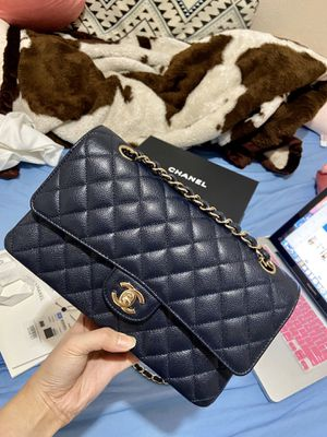 Authentic Navy Blue chanel classic double flap bag medium brand new for Sale in Westminster, CA