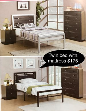 Brand new solid Twin bed with mattress for Sale in Fresno, CA