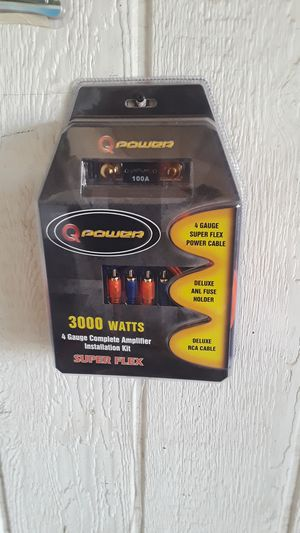 4 gauge amp kit for Sale in Donna, TX