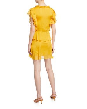 NWT EXPRESS Yellow Endless Rose Dress Large for Sale in Washington, DC