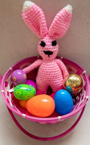 Handmade Amigurumi Crochet Bunny, Amigurumi Stuffed Animals, Crochet Dolls, Handmade Easter Bunny, Amigurumi Disney Characters Pink for Sale in Burlington, MA