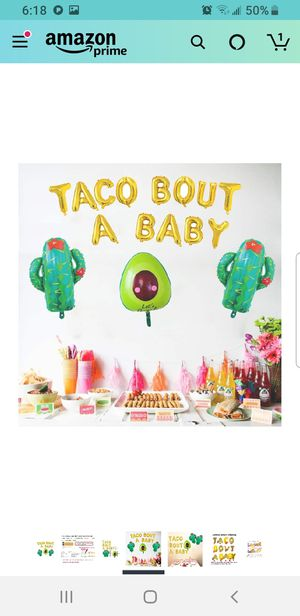 Taco bout a baby balloon set for Sale in Mount Vernon, WA