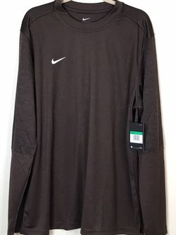 Nike Football Training Shirt Sideline Long Sleeve Brown CI4760-249 Mens XL New with tags for Sale in Rock Cave,  WV
