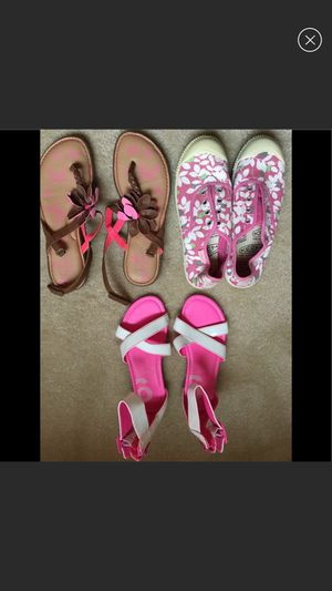 Girls shoes size 3.5 (white) and 4 for Sale in Rockville, MD