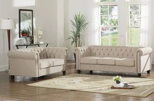 2 PCS Charlton sofa and loveseat set, matching accent chair is also available, now on sale 979.00 for Sale in Ontario, CA
