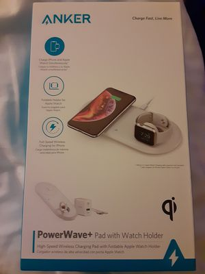 Anker PowerWave+ Qi HIGH SPEED WIRELESS CHARGING PAD + APPLE WATCH HOLDER iPhone for Sale in Seattle, WA