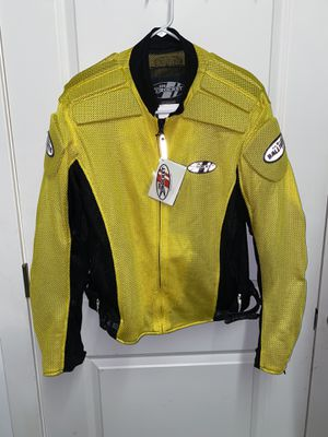 Joe Rocket Mens Motorcycle Jacket XL Ballistic Padding Yellow Hi Vis for Sale in Demarest, NJ