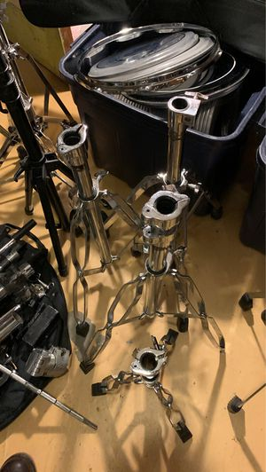 Cymbal booms, mic stands, snare drum stand, bass pedal, bass drum legs, hardware... for Sale in Los Angeles, CA