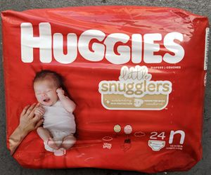 Huggies little snugglers size newborn 24 count for Sale in Houston, TX