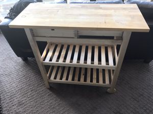 Portable kitchen pantry unit (Wooden) for Sale in Arlington, VA