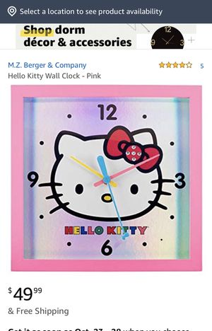 Hello kitty wall clock for Sale in Downey, CA