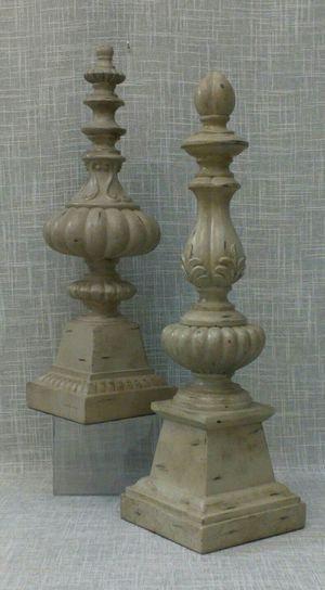 "2pc. Decorative Finial Figurine Set 17""x5"" & 15"" x 4.5"" *PICKUP ONLY* home decor for Sale in Mesa, AZ"