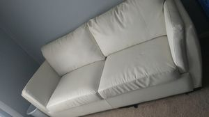 White leather couch for Sale in Shelby charter Township, MI