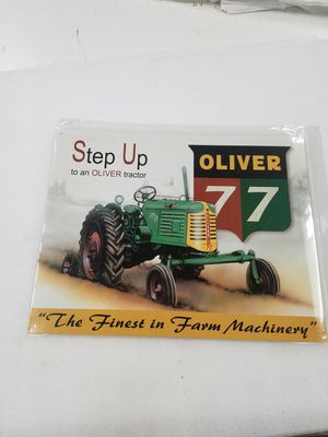 Oliver 77 farm tractor metal sign for Sale in Vancouver, WA