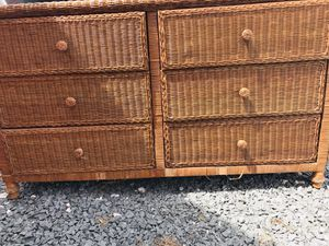 Wicker dresser for Sale in Georgetown, DE