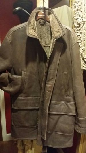 Burberry full sheepskin coat size fits Large for Sale in Chicago, IL