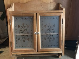 Country Style Medicine Cabinet with Towel Bar Bottom for Sale in Orange, CA