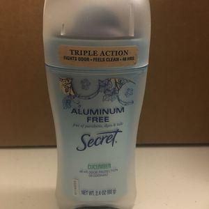 Secret Aluminum Free Antiperspirant Deodorant 2.6 oz for Sale in Pomona, CA