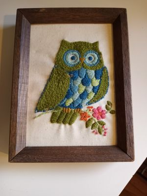 Vintage owl needlepoint for Sale in Seattle, WA