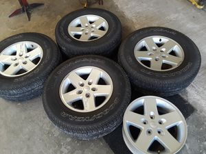 5 jeep wheels 17 inch perfect condition for Sale in Grapevine, TX