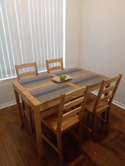 Dining room, wooden table with four chairs. for Sale in Austin,  TX