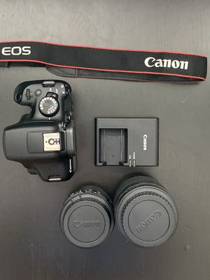 Canon Rebel T6 with 2 lenses, charger, and strap for Sale in Orlando, FL