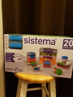 Sistema 20 pc Storage Container Set for Sale in Winston-Salem, NC
