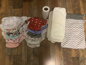 12 Cloth Diapers & 2 Wet Bags - Girls for Sale in Iron Station, NC