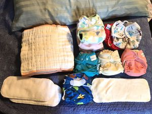 Newborn Cloth Diapers: GroVia, Thirsties, GMD for Sale in Belzoni, MS