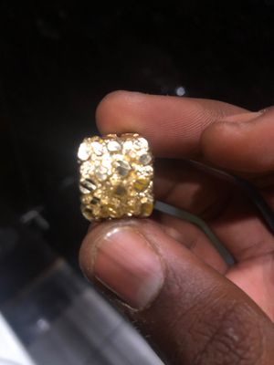Real all gold nugget ring 10k inside ring for Sale in Las Vegas, NV
