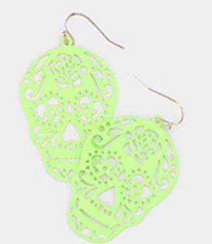 Green skull earrings for Sale in Parkville, MD