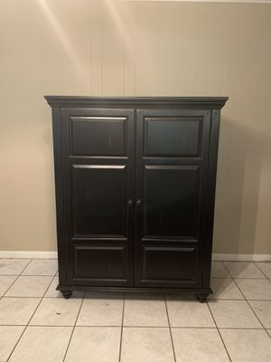 Black wooden TV stand for Sale in College Station, TX
