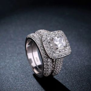 925 Sterling Silver Engagement/Wedding Ring Set - Code D210 for Sale in Houston, TX