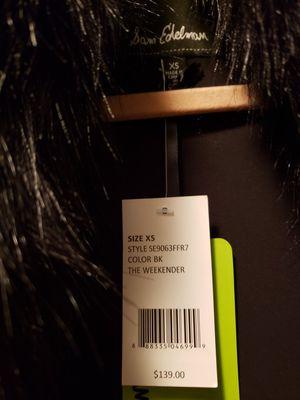 XS NWT Sam Edelman Black Faux Fur Vest for Sale in Norcross, GA
