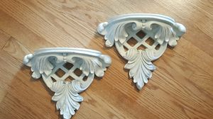 Pair white wall sconces shelves for Sale in Lemont, IL