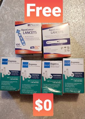 Free Diabetes. Pls Read Description. test strips lancets. New good dates for Sale in New Port Richey, FL