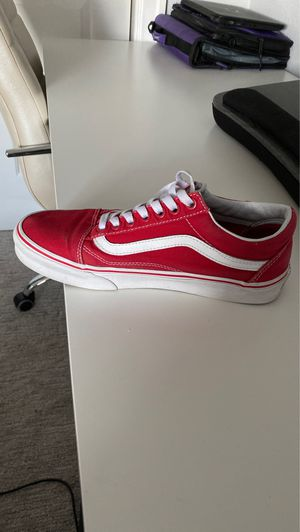 red vans, trade for air forces size 7-8 women's !! for Sale in Auburn, WA