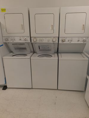 🔥🔥washer and electric dryer stackable 24 inches wide good condition 90 days warranty 🔥🔥 for Sale in Mount Rainier, MD