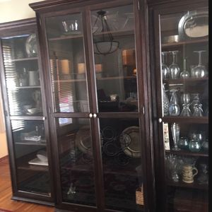 """Three Piece China Cabinet/bookshelves Or tv (43"""") for Sale in Orting, WA"""