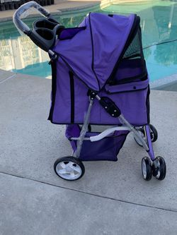 New Pet Stroller Cat/Dog Easy to Walk Folding Travel Carrier Carriage, for Sale in Long Beach,  CA