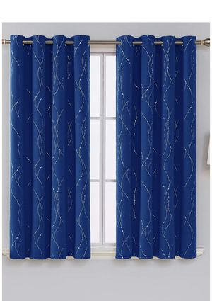 Royal blue blackout curtains for Sale in Silver Spring, MD