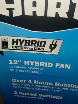 "Hart 12"" Shop Fan. 120v/20v (Brand New-Sealed) for Sale in Florissant,  MO"